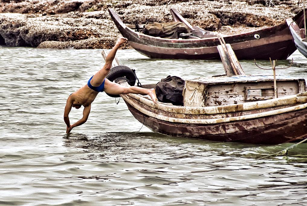 漁師のひと時