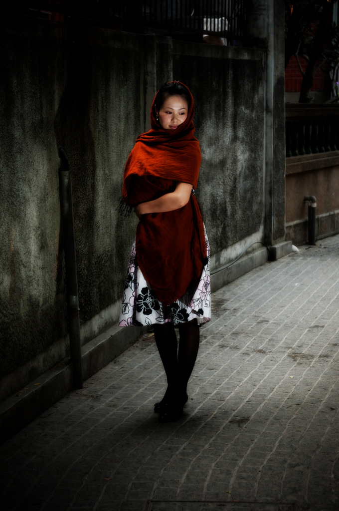 麻のスカーフ