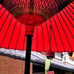 NIKON NIKON D700で撮影したインテリア・オブジェクト(長浜旅情 涼やかな 風鈴響く 野点傘)の写真(画像)