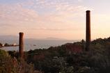 煙突島夕景