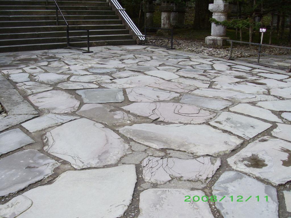 日光 東照宮の石畳み