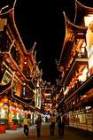 夜、商城を歩く