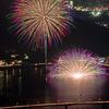 河口湖 湖上祭 水中花火