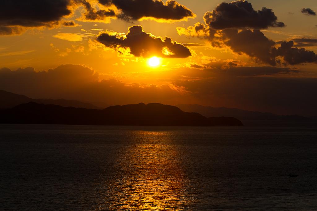 伊毘から見た夕陽 1