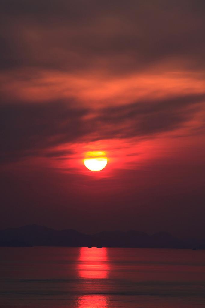 伊毘の夕日1