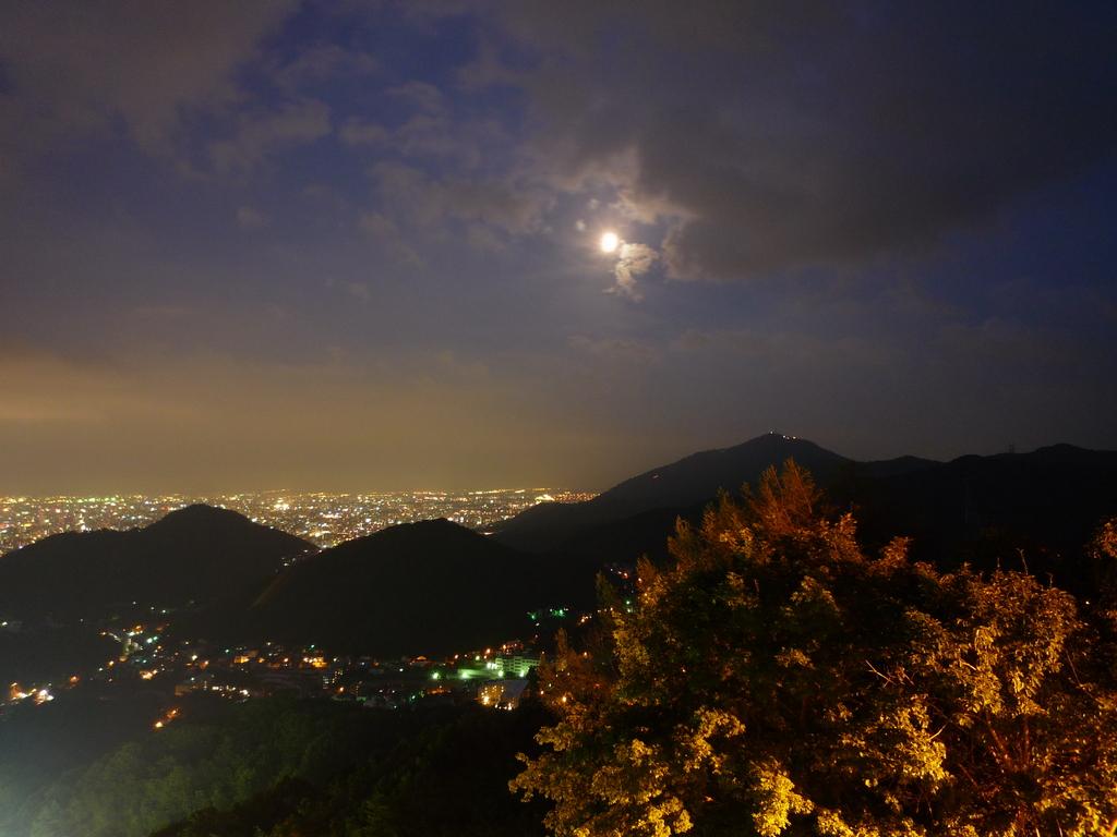月夜の夜景