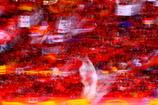 赤いサポーター
