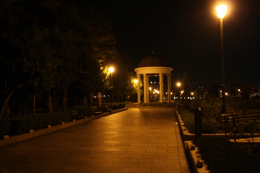 park at night