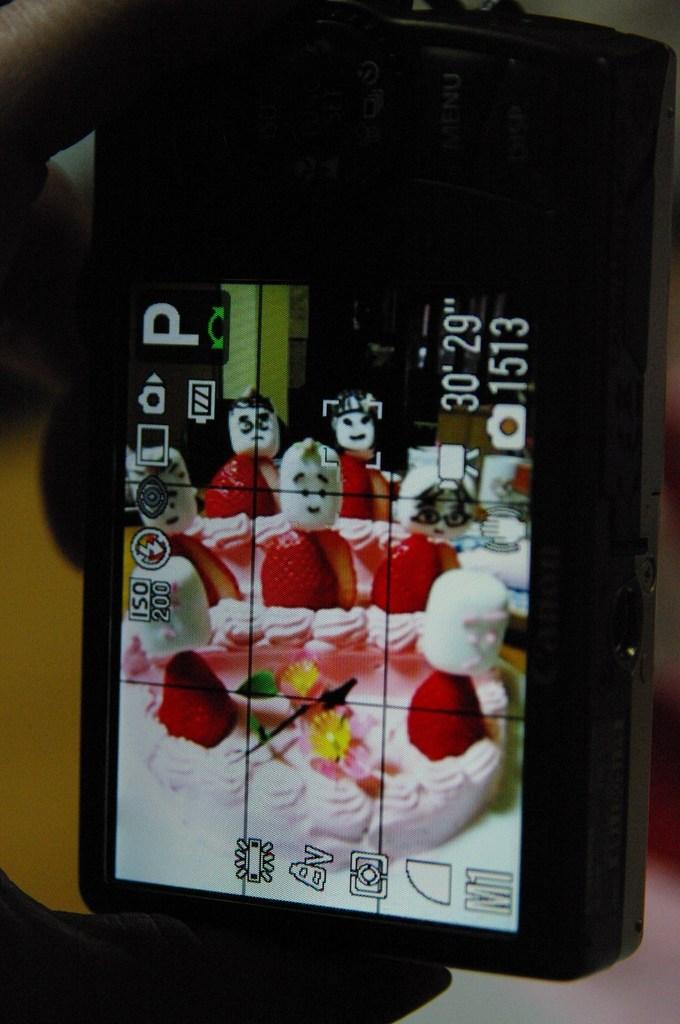 雛祭ケーキでフェイスキャッチ!