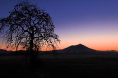 筑波嶺の夜明け