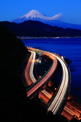 黄昏の薩埵峠