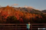 温泉の帰りに見た紅葉
