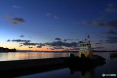 小名浜港の夜明け