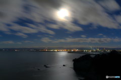 満月の小名浜港