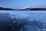 厳冬の山中湖