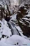 白銀の滝景