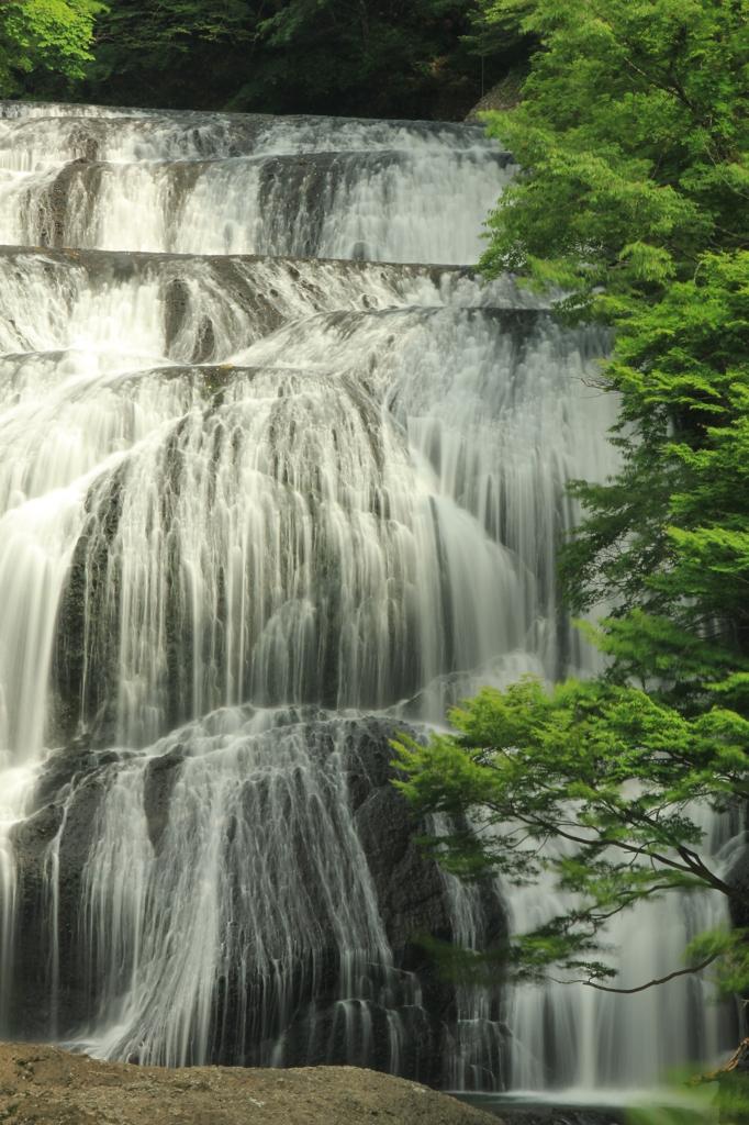 迫力の四度の滝