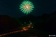 Fireworks near the rainy season