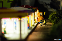 Playing kids made of Lego