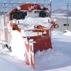 排雪中のDE15 1509