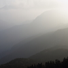 階調の山並 ・・・ 夕靄の刻