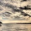 夕暮れの片瀬海岸2
