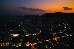 釜山の夕焼け