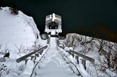 雪景のインクライン