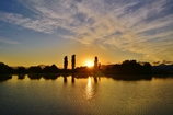 朝日の光景 野田沼