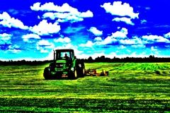 フォトお絵描き 芝刈り