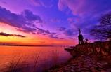 夜明けの出島灯台