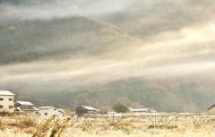 里山の冬朝