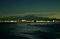 月夜の琵琶湖