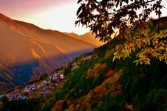 晩秋の日本のチロル