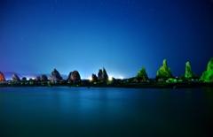 橋杭岩夜景