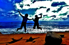 カリフォルニアの光と風にジャンプ