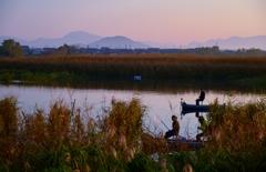 伊庭内湖の朝釣り