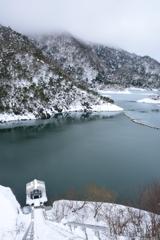白龍湖の冬