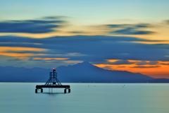 明け琵琶湖