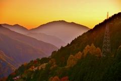 山里の黄昏時
