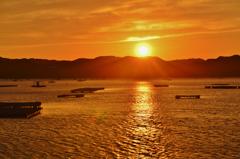 鳴門・ウチノ海の夕日