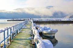 余呉湖ワカサギ釣り桟橋