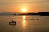 夕景の淡海