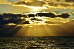 天使の梯子 琵琶湖