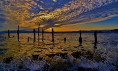 波打ちの夕