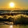 淡海の波打ち