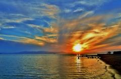 琵琶湖・落陽