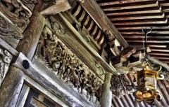 大杉神社 軒下彫刻