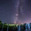 原尻の滝と天の川