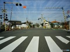 東海道本線の踏切